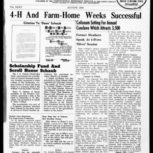 Extension Farm-News Vol. 35 No. 12, August 1950