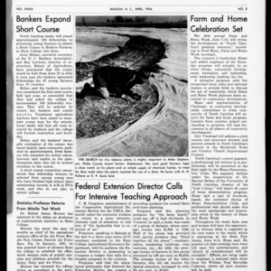 Extension Farm-News Vol. 39 No. 8, April 1954