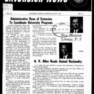 Extension News Vol. 51 No. 11, July 1965