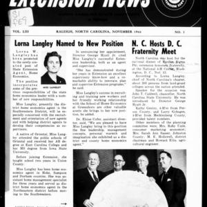 Extension News Vol. 53 No. 3, November 1966