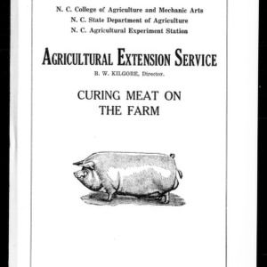 Curing Meat on the Farm (Extension Circular No. 4)