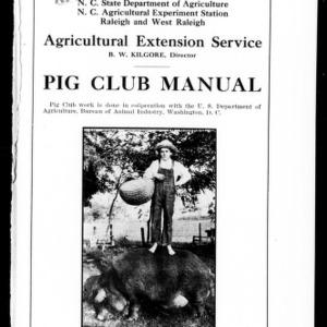 Pig Club Manual (Extension Circular No. 12)