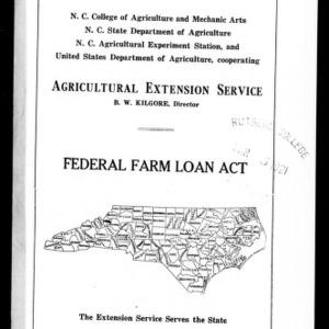 Federal Farm Loan Act (Extension Circular No. 14, Revised)