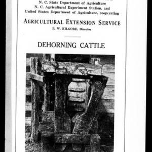 Dehorning Cattle (Extension Circular No. 22)