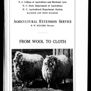 From Wool to Cloth (Extension Circular No. 23)