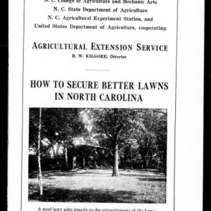How to Secure Better Lawns in North Carolina (Extension Circular No. 28)