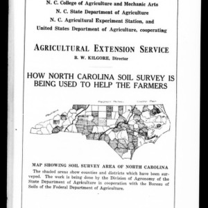 How North Carolina Soil Survey is Being Used to Help the Farmers (Extension Circular No. 32)