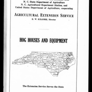 Hog Houses and Equiptment (Extension Circular No. 33)