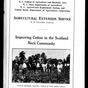 Improving Cotton in the Scotland Neck Community (Extension Circular No. 37)