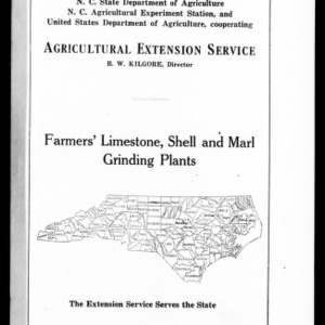 Farmers' Limestone, Shell and Marl Grinding Plants (Extension Circular No. 38)