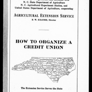 How to Organize a Credit Union (Extension Circular No. 39)