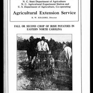 Fall or Second Crop of Irish Potatoes in Eastern North Carolina (Extension Circular No. 49)