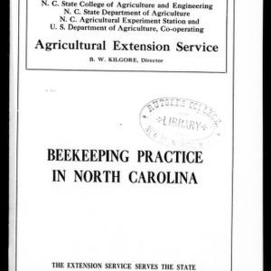Beekeeping Practice in North Carolina (Extension Circular No. 52)