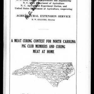A Meat Curing Contest for North Carolina Pig Club Members and Curing Meat at Home (Extension Circular No. 58)
