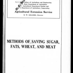 Methods of Saving Sugar, Fats, Wheat, and Meat (Extension Circular No. 59)