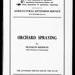Orchard Spraying (Extension Circular No. 66)