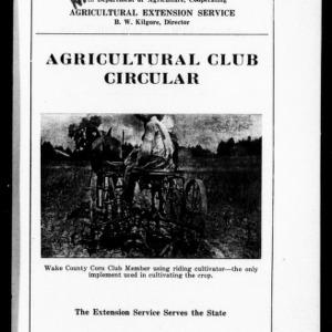 Agricultural Club Circular (Extension Circular No. 67)