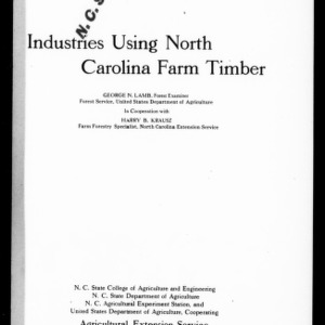 Industries Using North Carolina Farm Timber (Extension Circular No. 73)