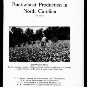 Buckwheat Production in North Carolina (Extension Circular No. 75)