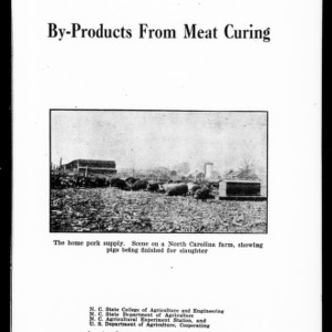 By-Products from Meat Curing (Extension Circular No. 82)
