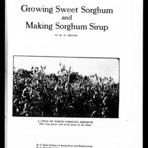 Growing Sweet Sorghum and Making Sorghum Sirup (Extension Circular No. 84)