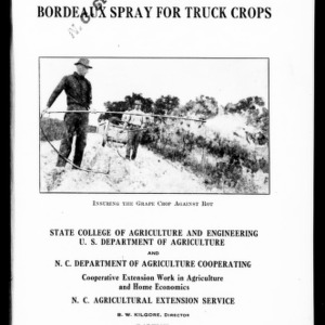Bordeaux Spray for Truck Crops (Extension Circular No. 138)
