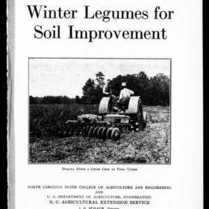 Winter Legumes for Soil Improvement (Extension Circular No. 178)