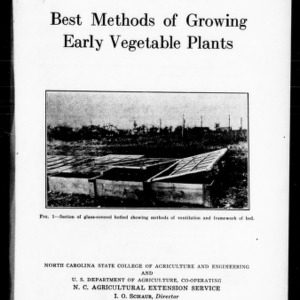 Best Methods of Growing Early Vegetables (Extension Circular No. 182)