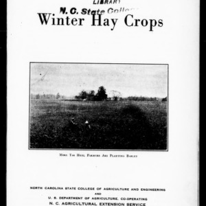 Winter Hay Crops (Extension Circular No. 187)