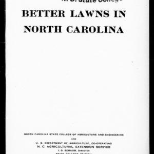 Better Lawns in North Carolina (Extension Circular No. 189)
