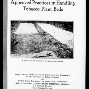 Approved Practices in Handling Tobacco Plant Beds (Extension Circular No. 207, Reprint)