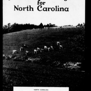 Agricultural Program for North Carolina (Extension Circular No. 208, Revision)