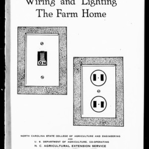 Wiring and Lighting the Farm Home (Extension Circular No. 213)