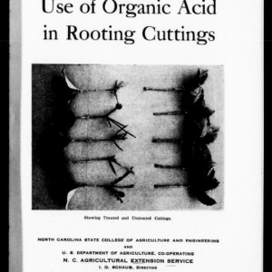 Use of Organic Acid in Rooting Cuttings (Extension Circular No. 221)