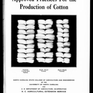 Approved Practices for the Production of Cotton (Extension Circular No. 234)