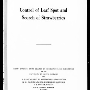 Control of Leaf Spot and Scorch of Strawberries (Extension Circular No. 236)