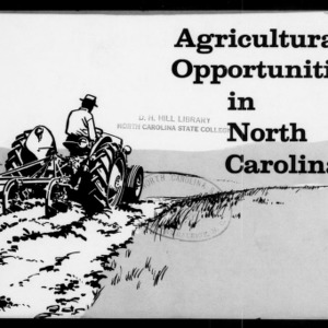 Agricultural Opportunities in North Carolina (Extension Circular No. 355)