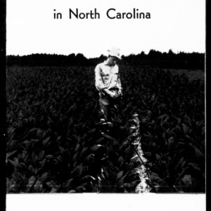 Aromatic Tobacco Production in North Carolina, 1956 (Extension Circular No. 375, Revised)