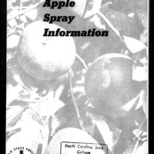 Apple Spray Information for the Home Orchardist (Extension Circular No. 406)