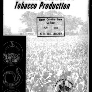 Cropping Systems for Nematode Control and Tobacco Production (Extension Circular No. 409)
