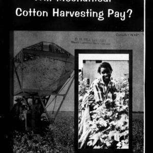 Will Mechanical Cotton Harvesting Pay? (Extension Circular No. 428)