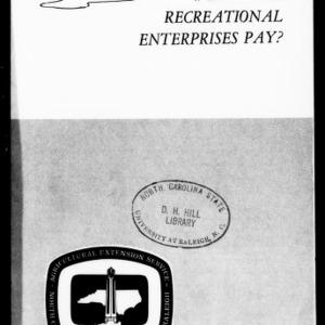 Will Farm Recreational Enterprises Pay? (Extension Circular No. 497)