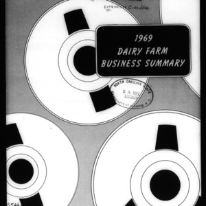 1969 Dairy Farm Business Summary (Circular No. 514)