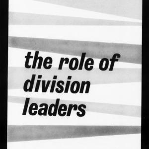 Extension Miscellaneous Publication No. 14: Area Development in North Carolina - The Role of Division Leaders in Area Development
