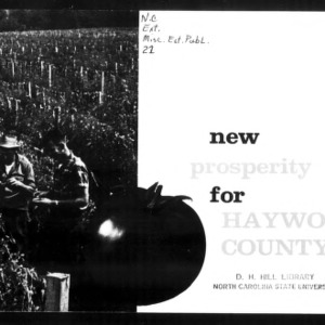 Extension Miscellaneous Publication No. 21: New Prosperity for Haywood County