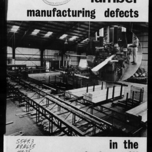 Extension Miscellaneous Publication No. 25: Lumber Manufacturing Defects in the Planing Mill