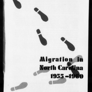 Extension Miscellaneous Publication No. 27: Migration in North Carolina, 1955-1960: Significance to Extension Programs