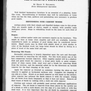 Extension Miscellaneous Pamphlet No. 16: Refinishing Furniture