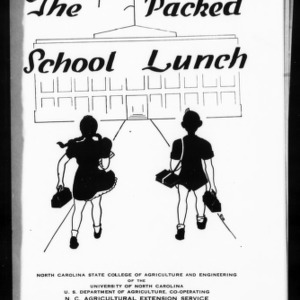 Extension Miscellaneous Pamphlet No. 17, Revised: The Packed School Lunch