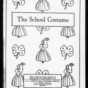 Extension Miscellaneous Pamphlet No. 21: The School Costume